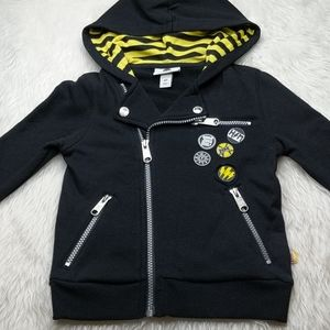 Harajuku Mini Black Zip Up Skater Hoodie